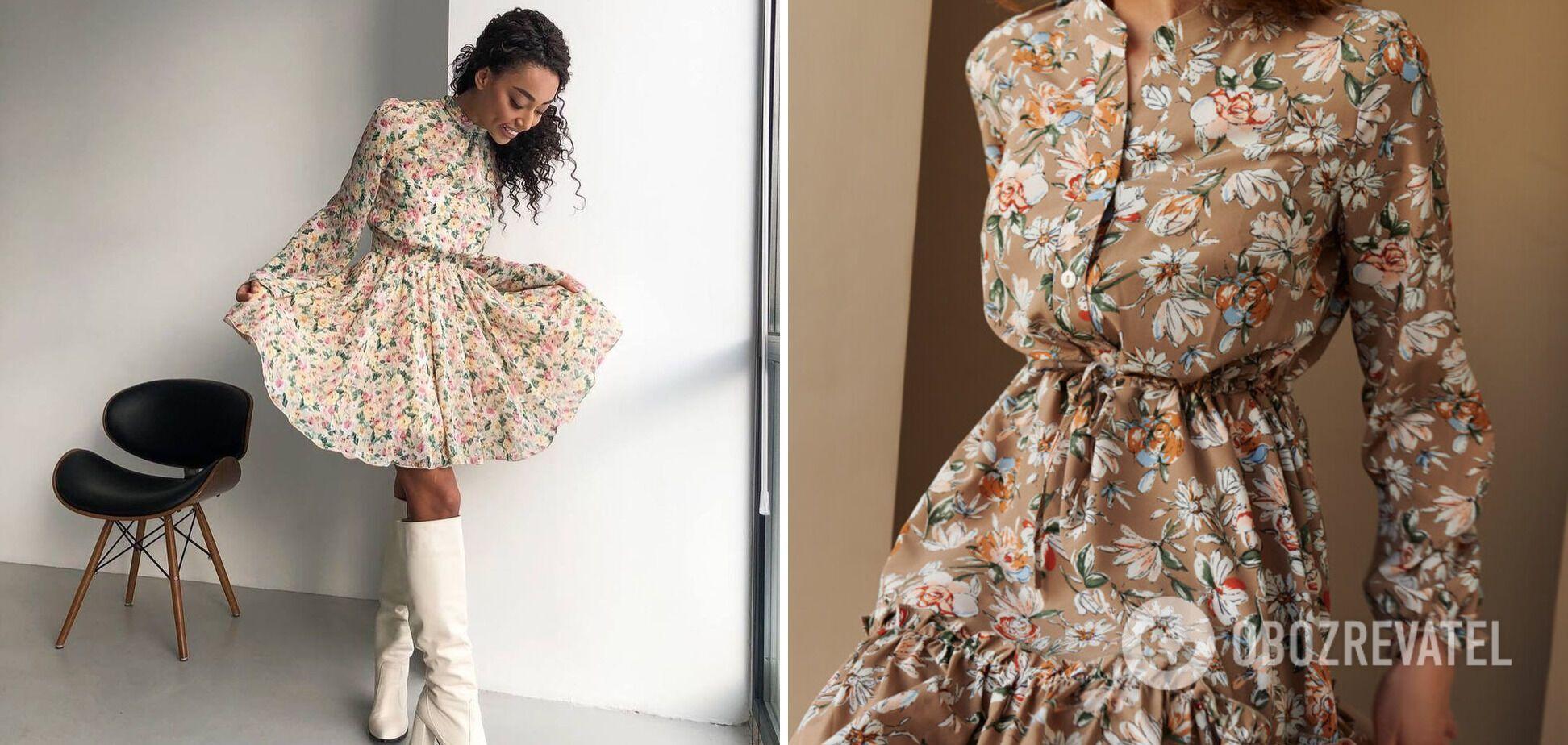 Ніжна сукня з квітковим візеронком завжди в тренді