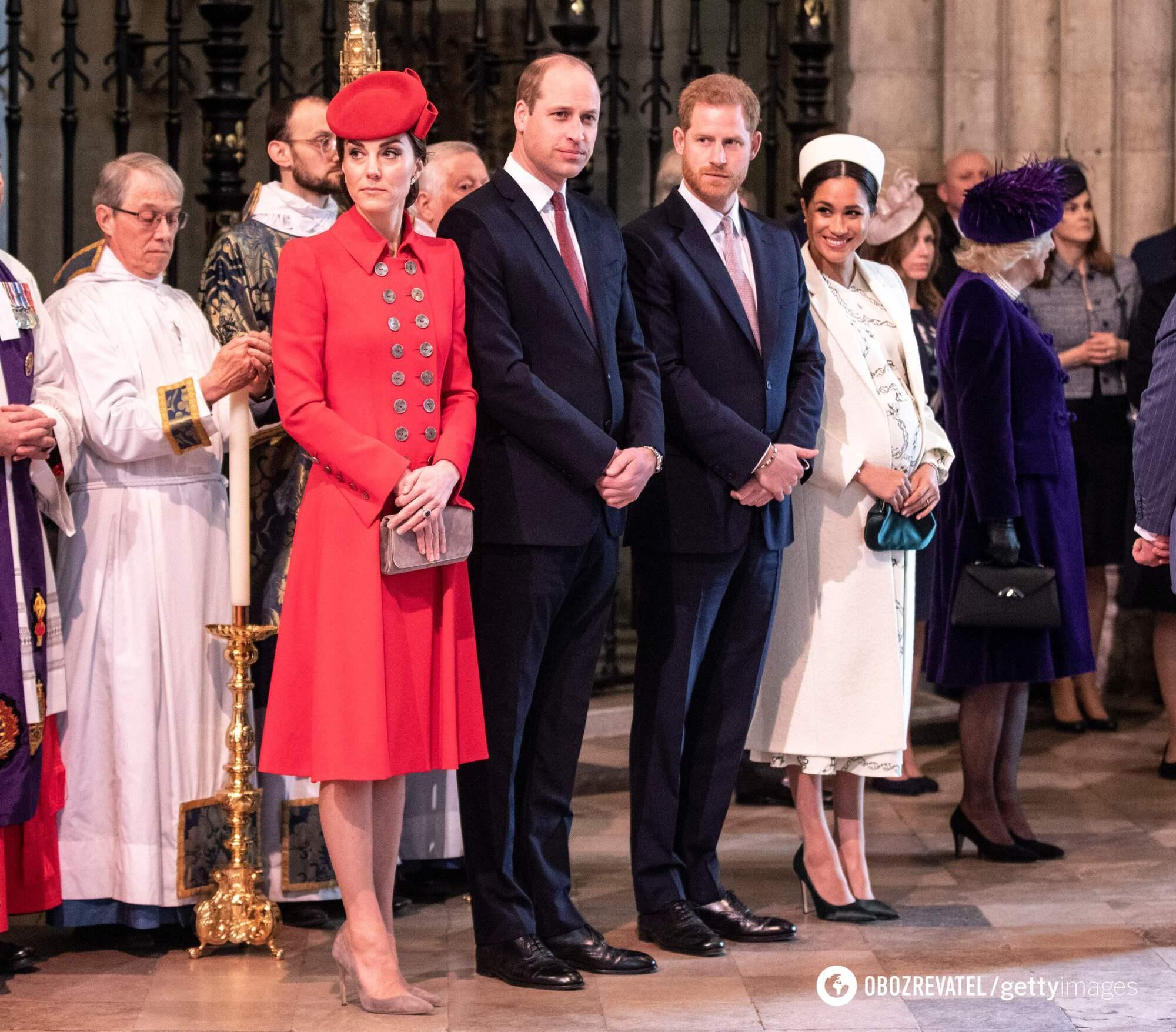 Кейт Міддлтон, принц Вільям, принц Гаррі і Меган Маркл