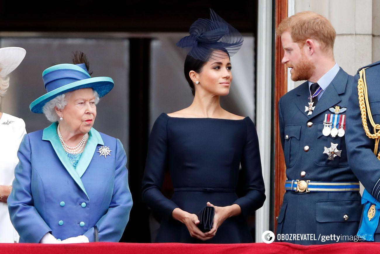 Єлизавета II, Меган Маркл і принц Гаррі