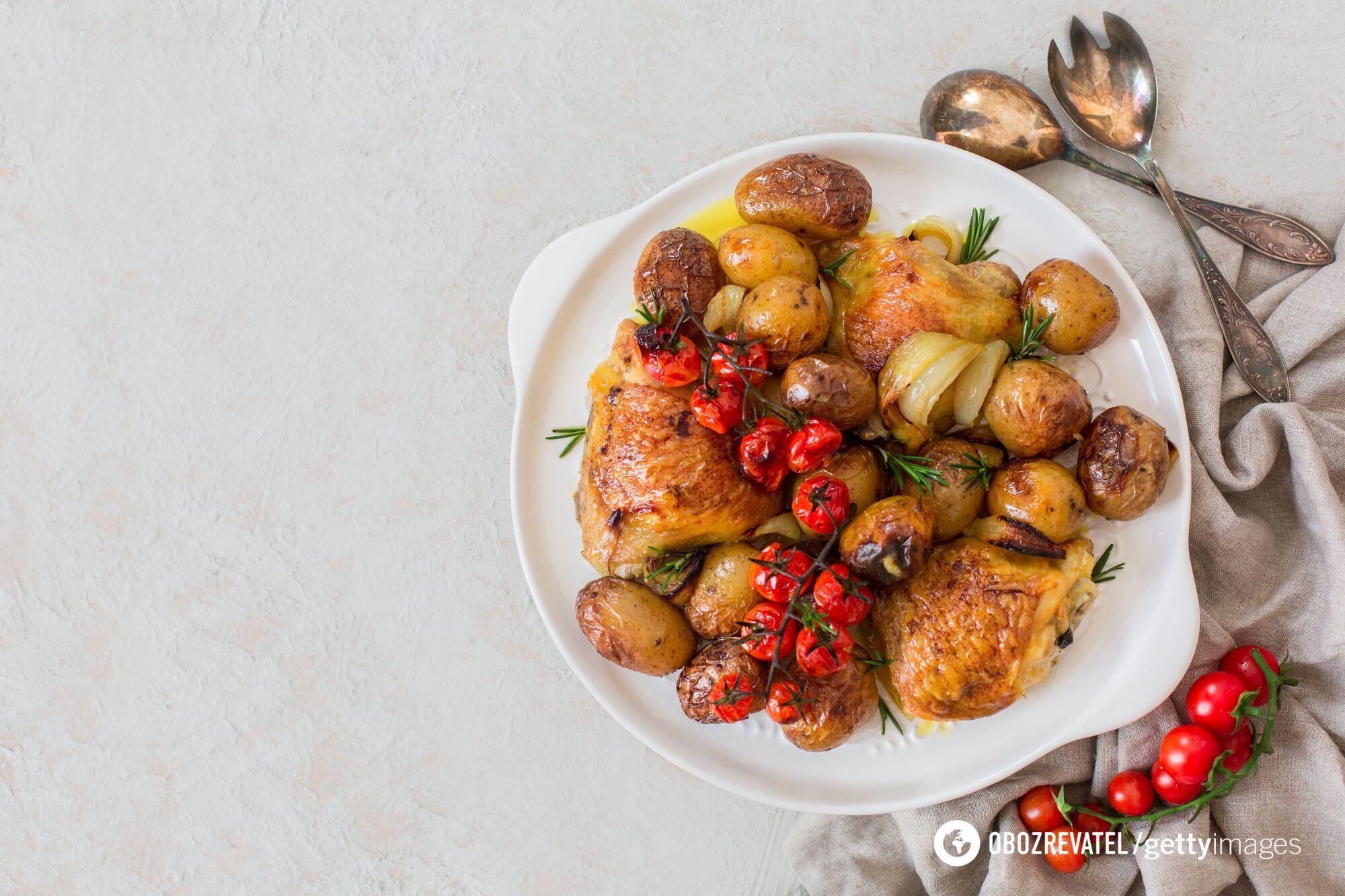 Молода картопля в глазурі