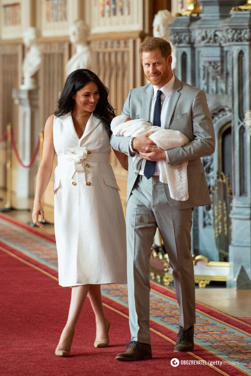 Меган Маркл и принц Гарри после рождения сына Арчи