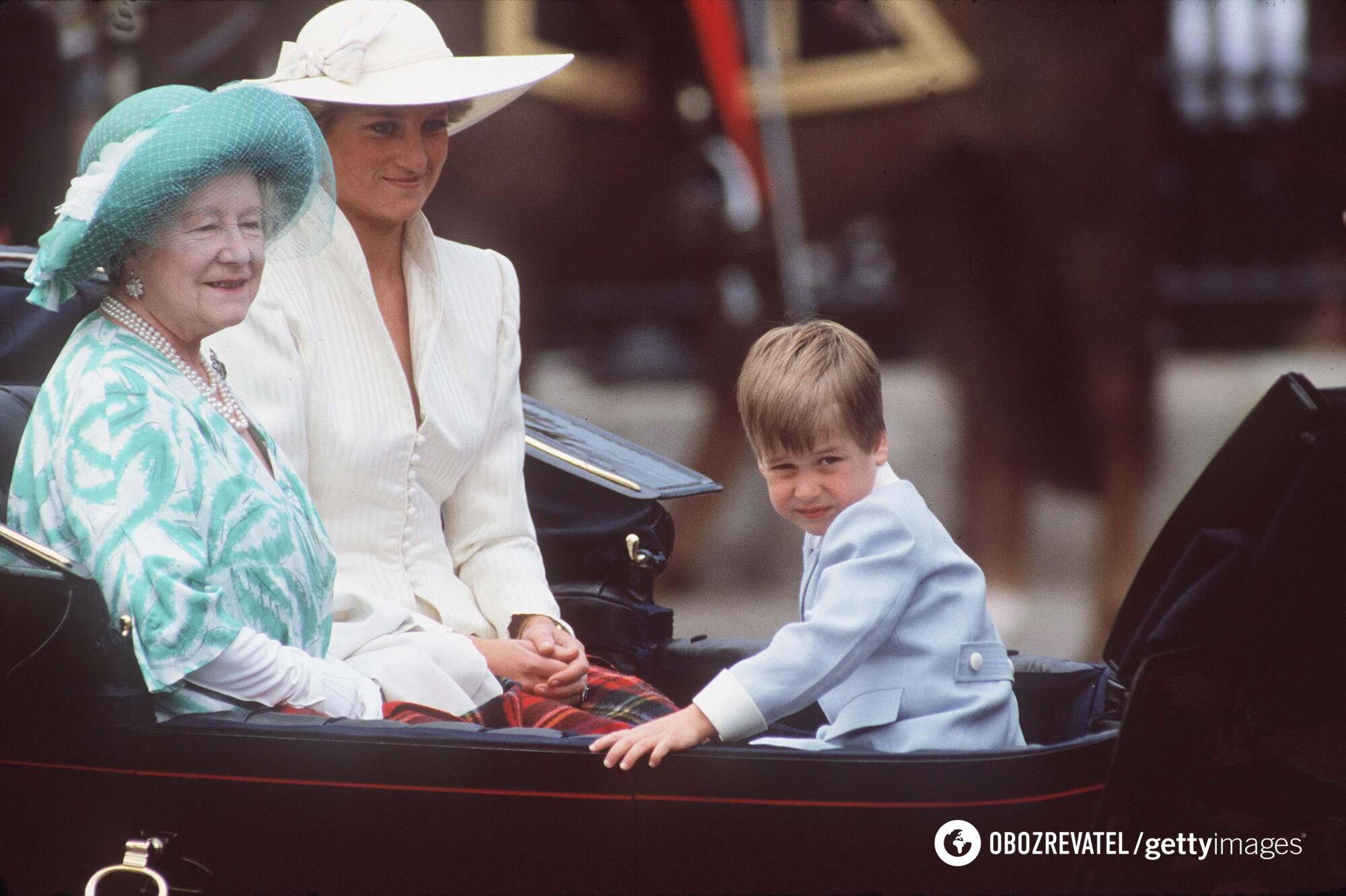 Королева-мать и принцесса Диана