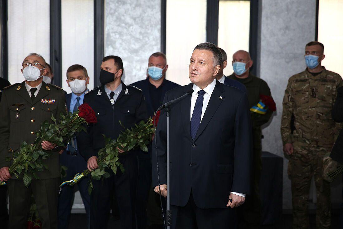 Арсен Аваков на церемонии прощания с Павлюком