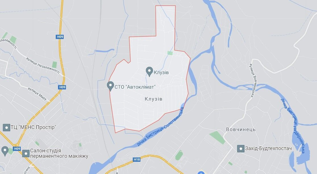 ЧП произошло вблизи села Клузив