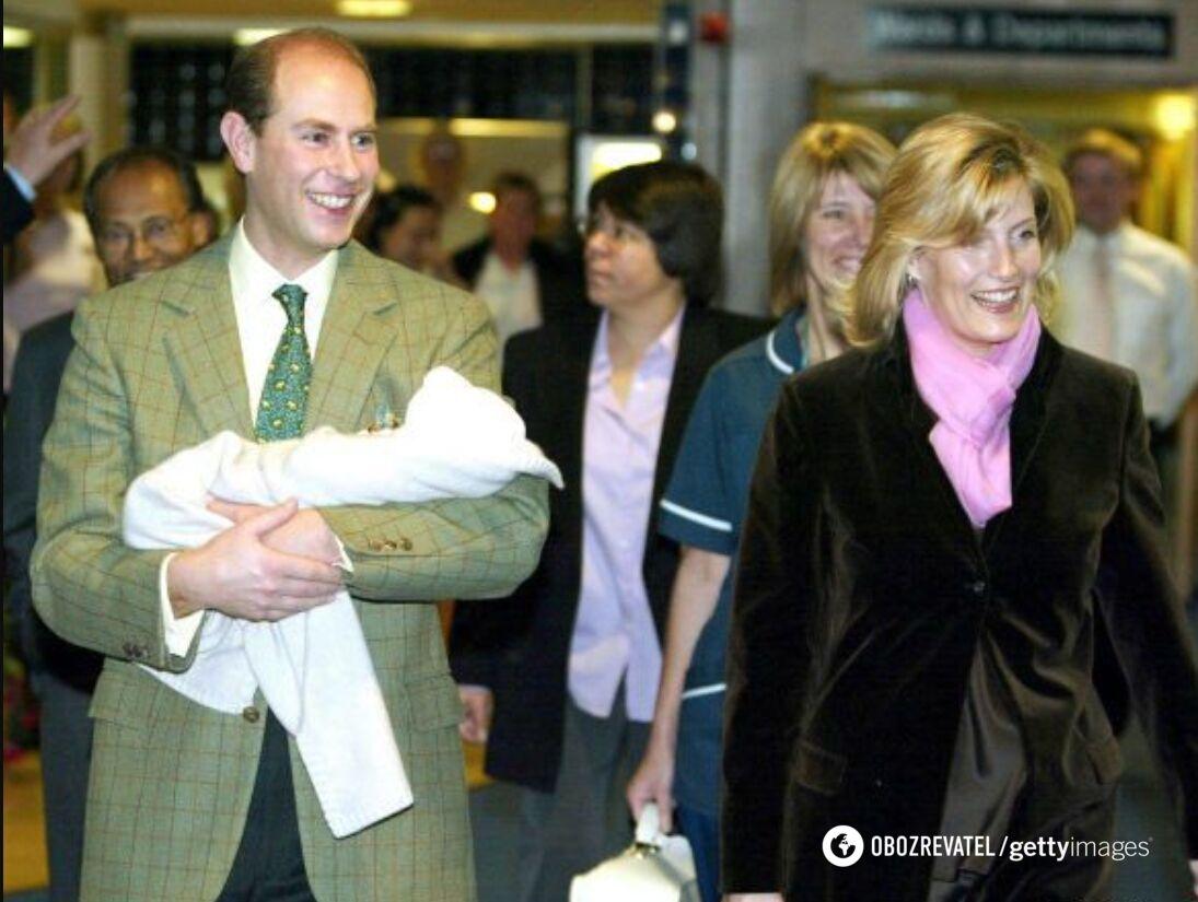 Графиня Софи и принц Эдвард с дочерью Луизой