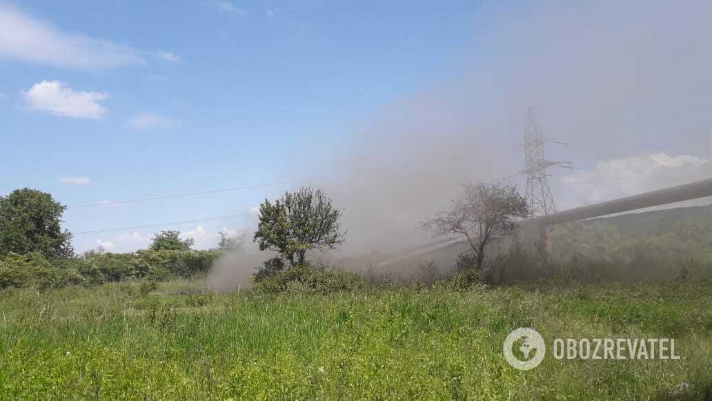 Авария на магистральном газопроводе в Ивано-Франковской области