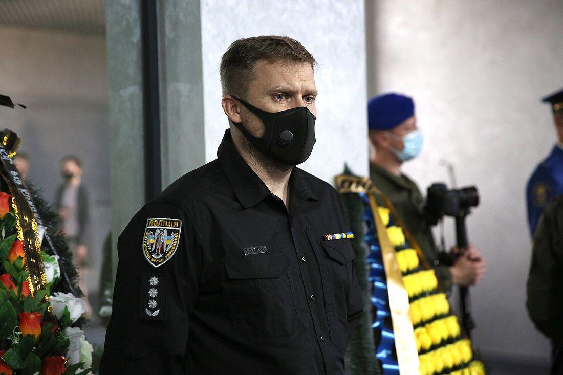Вадим Троян на церемонии прощания