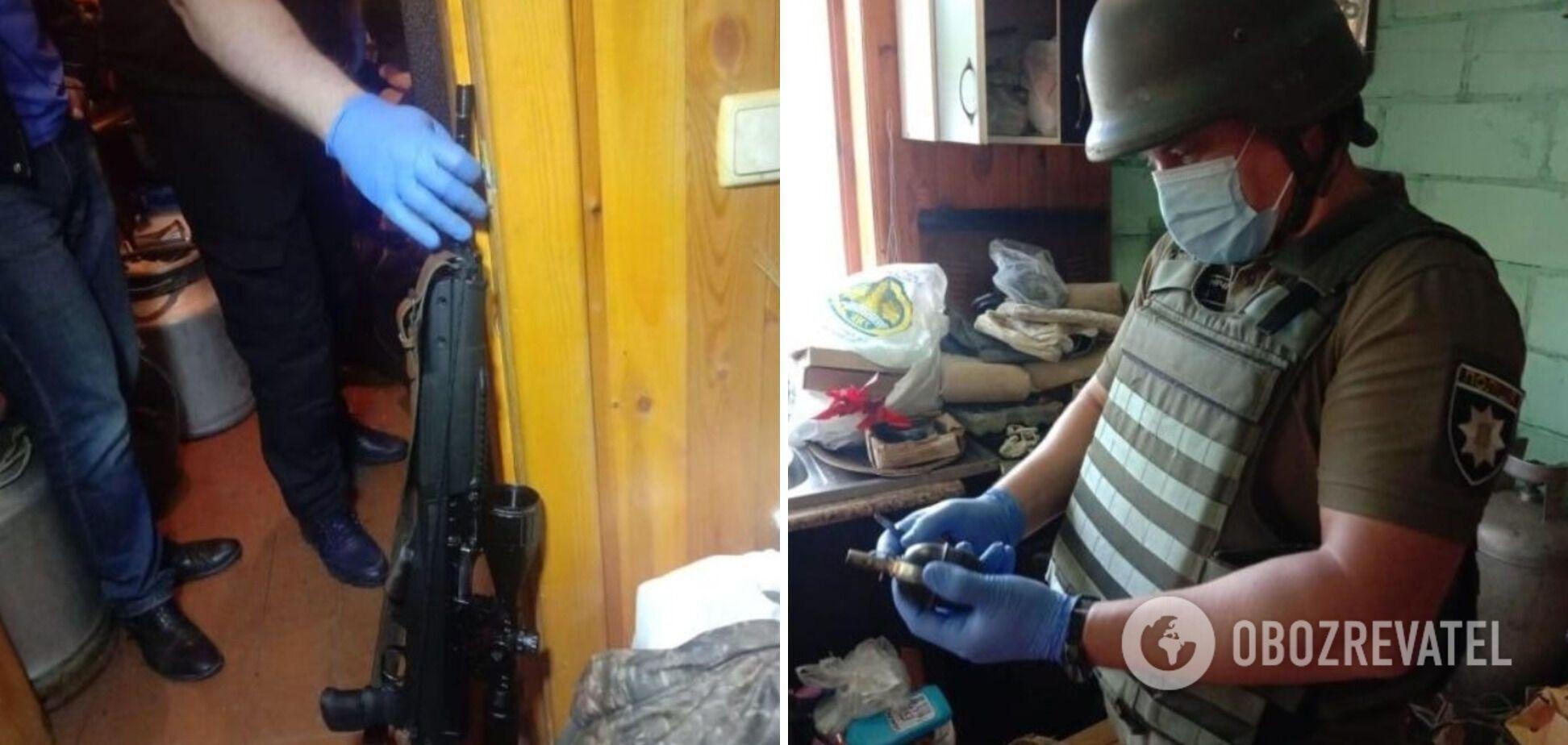 Обыски в доме подозреваемого