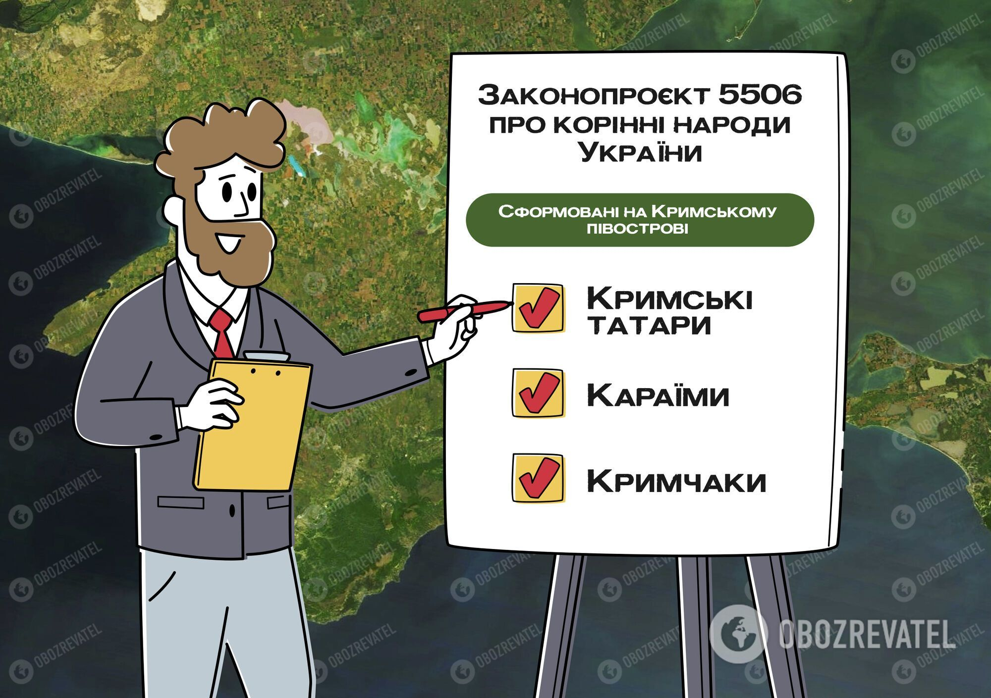 Зеленский определил три коренных народа в Украине.