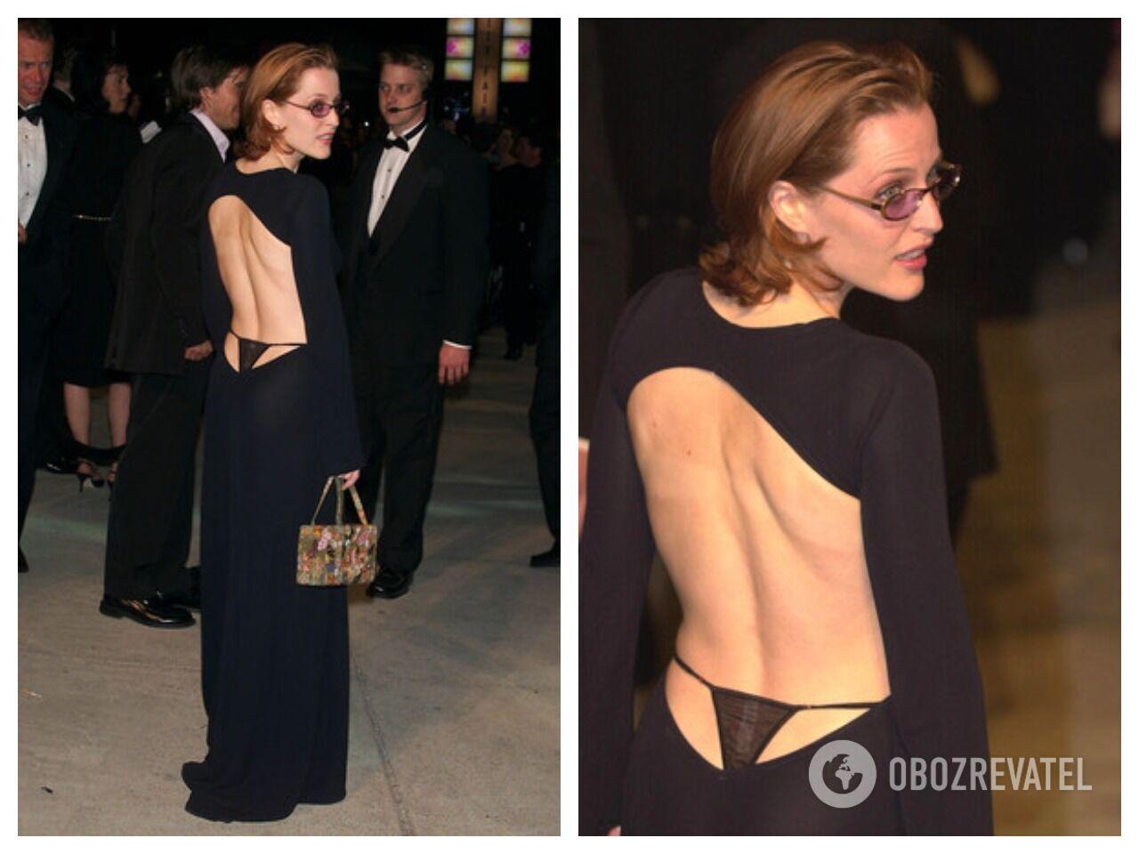 """Звезда """"Секретных материалов"""" Джиллиан Андерсон надела платье, из-под которого выглядывали черные стринги"""