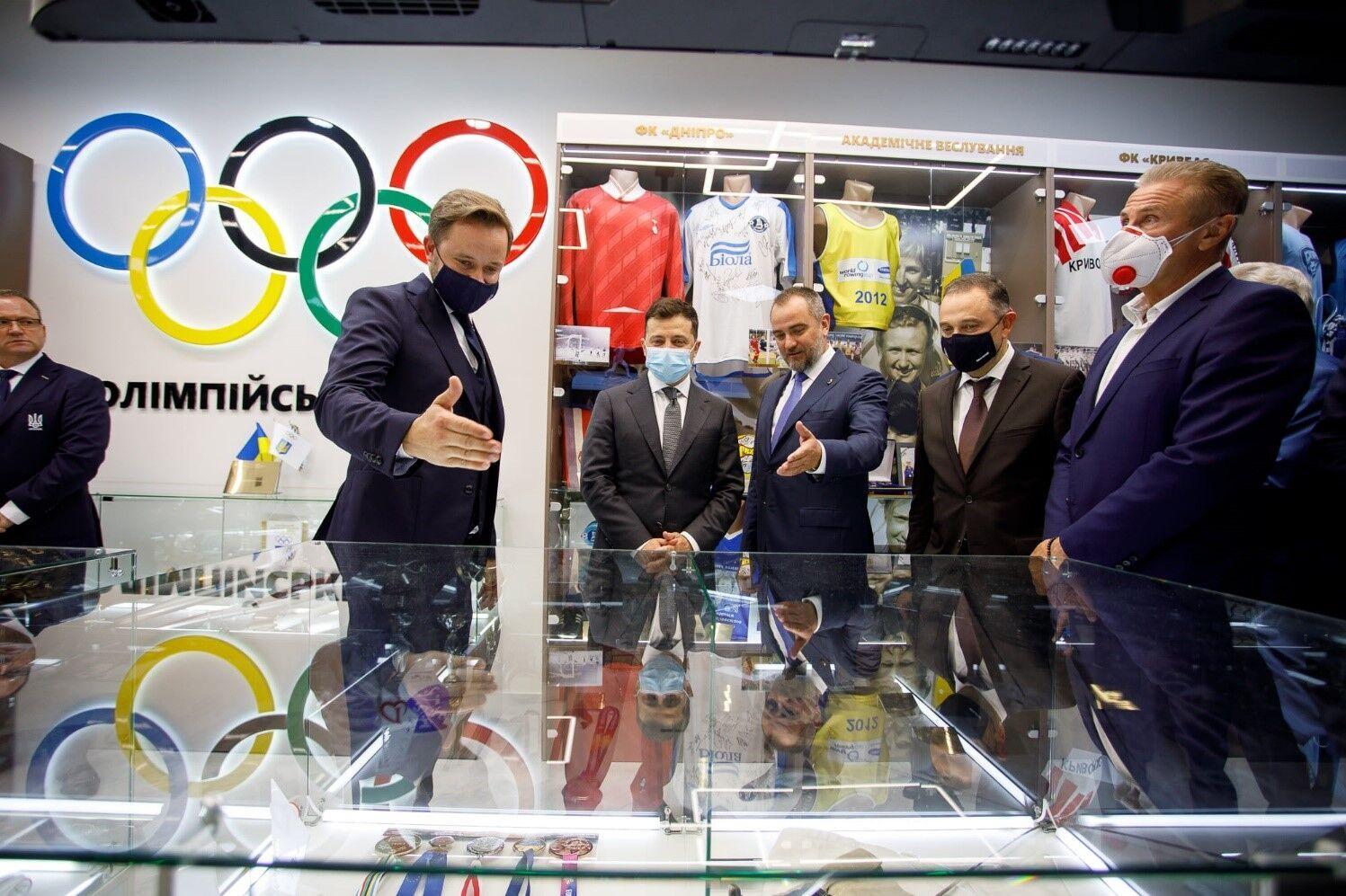 Зеленский приехал на открытие Олимпийского дома