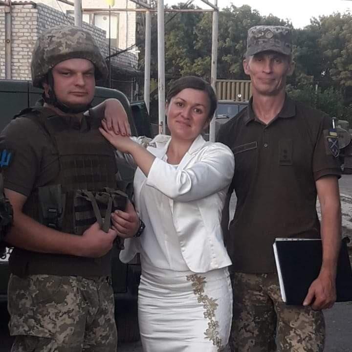 Ирма Крат с украинскими военными