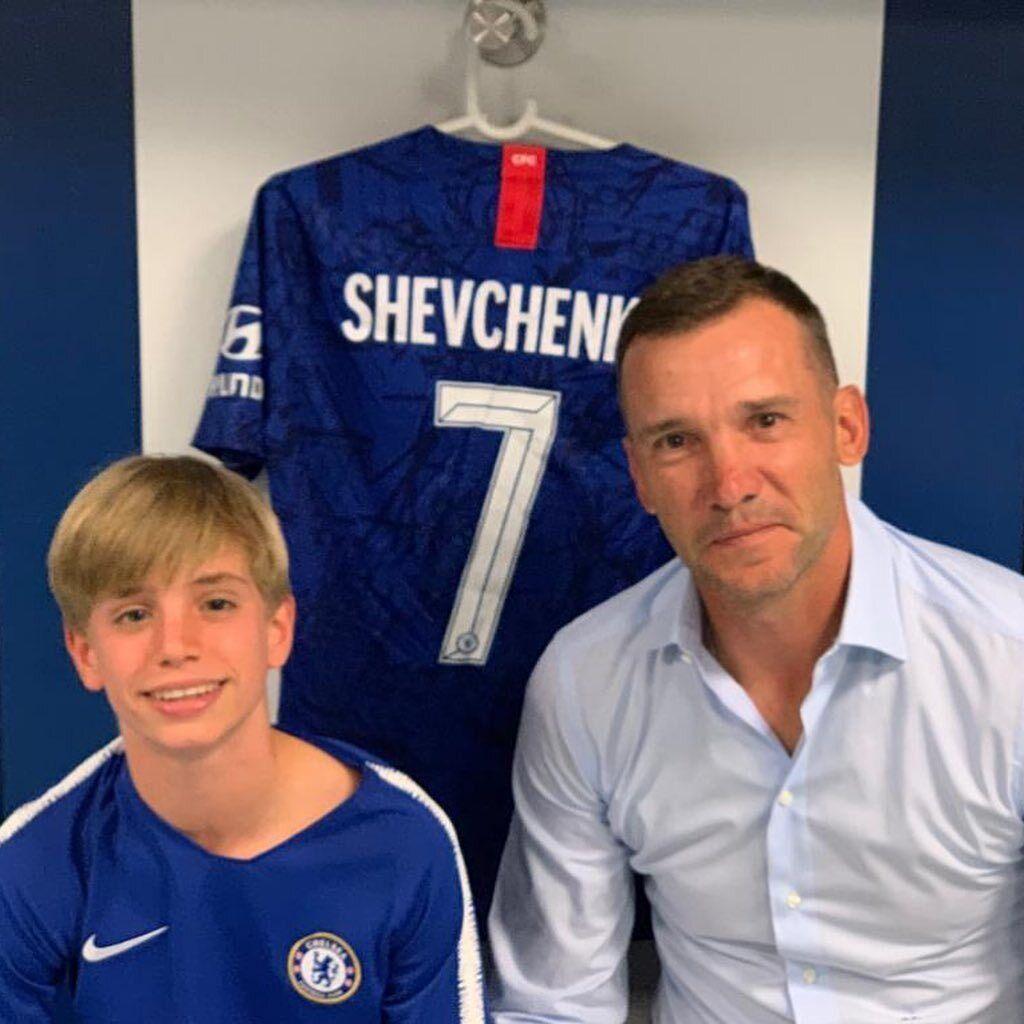 Андрій Шевченко і його син Крістіан