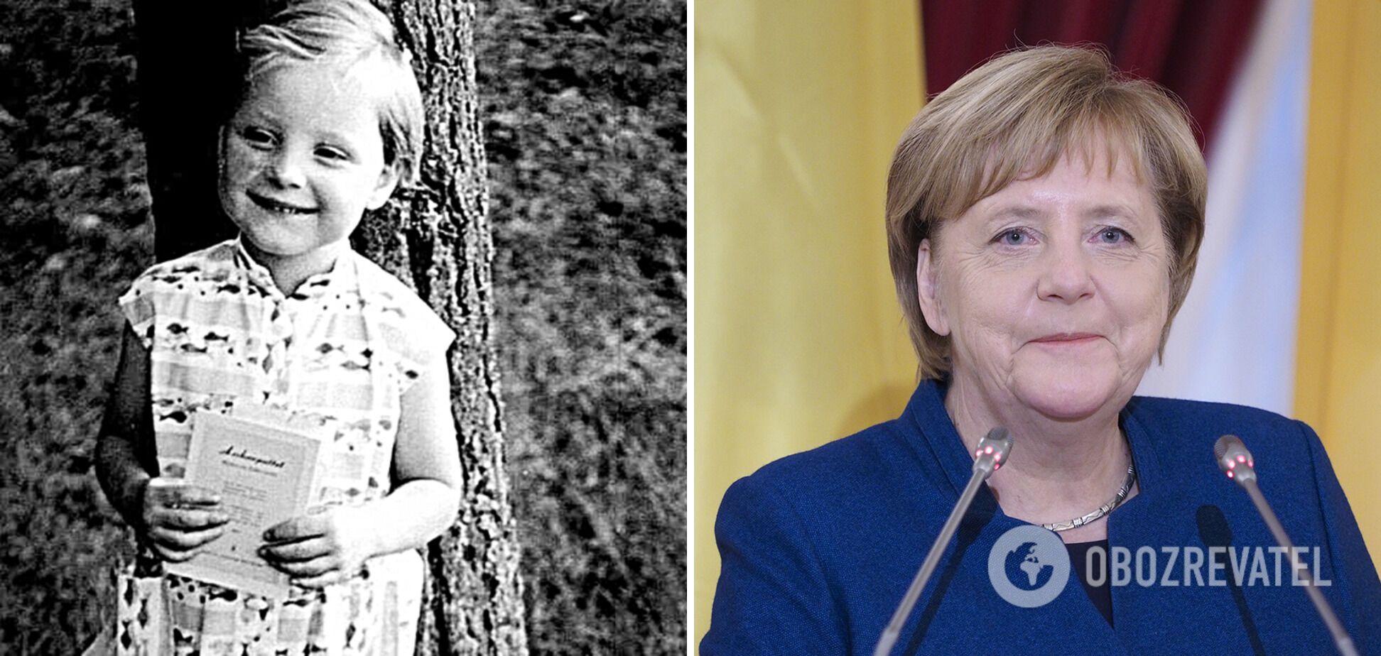 Ангела Меркель школу закінчила на відмінно.