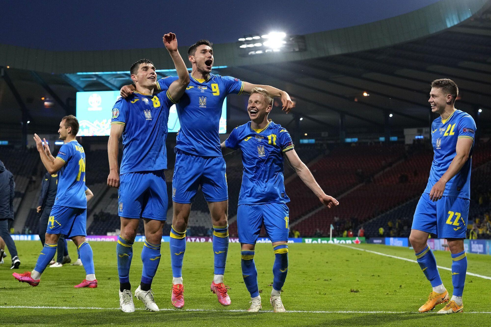 Украина после победы над Швецией.
