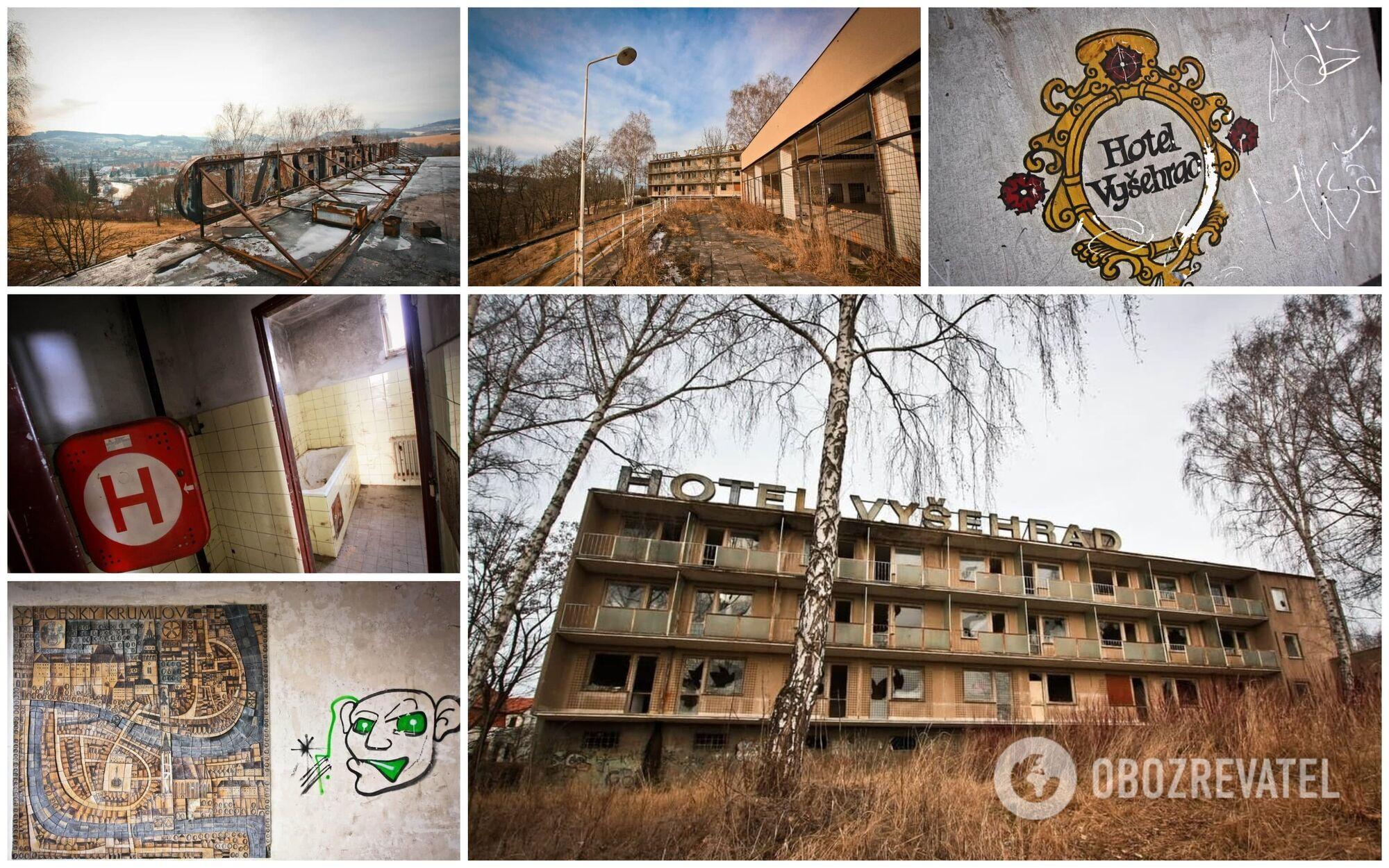 Заброшенный отель 1970–1980-х годов в Чехии находится на холме рядом с городом Крумлов