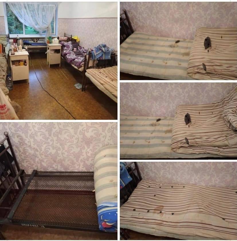 Условия в палате в больниц Лисичанска.
