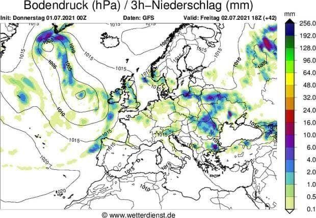 Погода в Європі на 2 липня