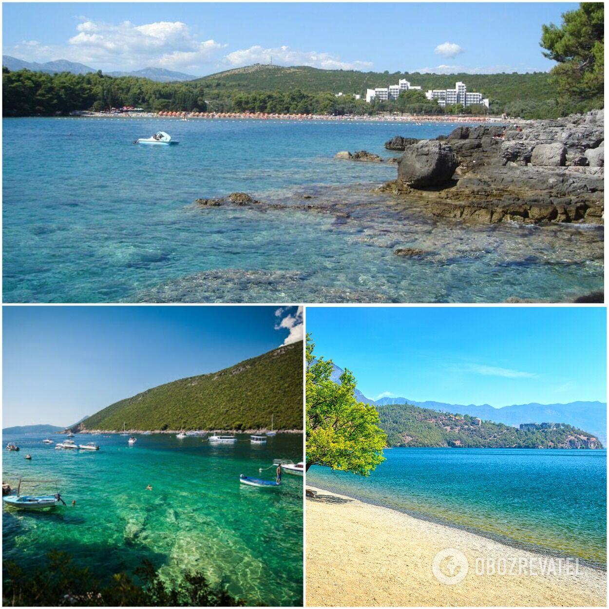 Плави Хоризонти – это пляж с мелким белоснежным песком, который скорее напоминает пляжи Таиланда или Доминиканской Республики.