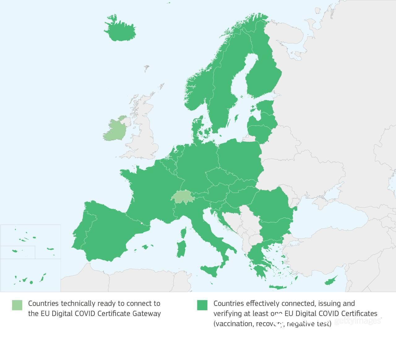 Карта дії сертифіката в ЄС