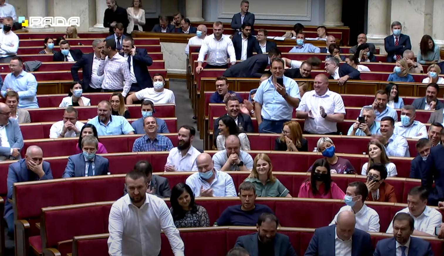 Реакція нардепів на виступ Тимошенко.