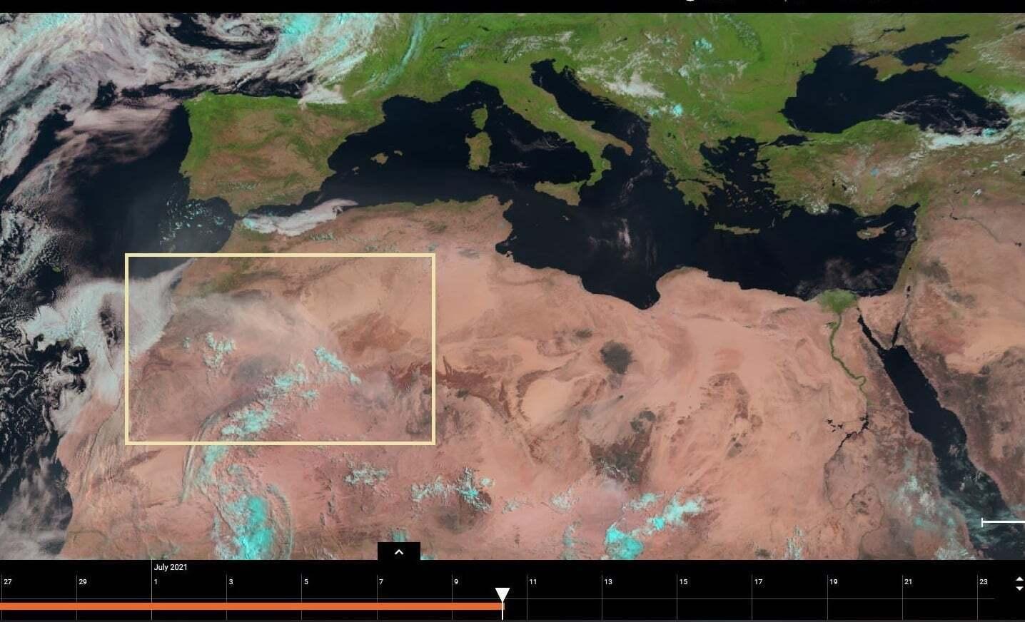 У Сахарі утворилася пилова буря.