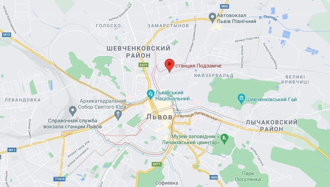 """Инцидент произошел на станции """"Подзамче""""."""