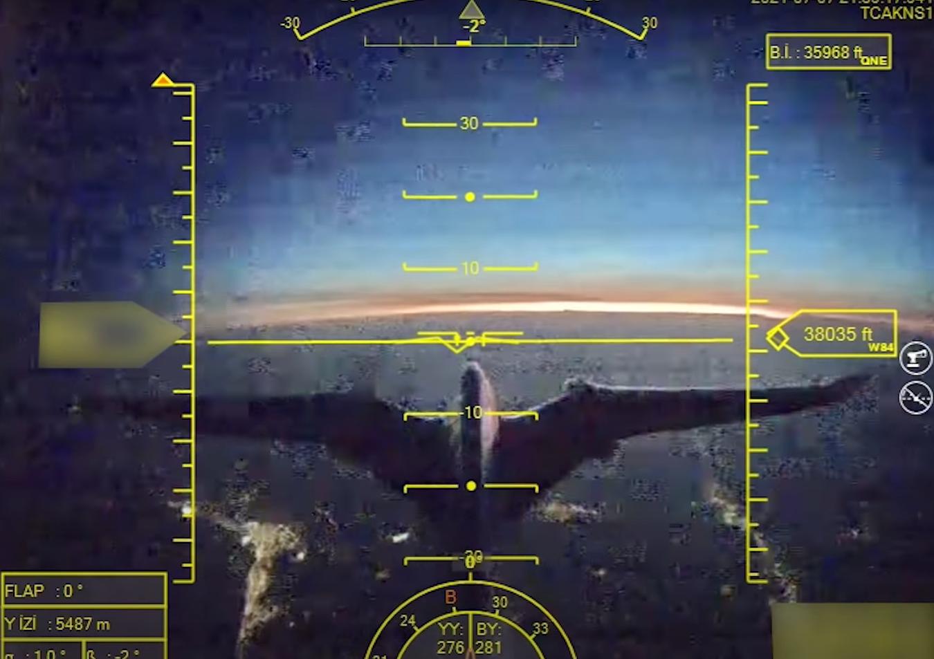 Вид через камеру беспилотника.