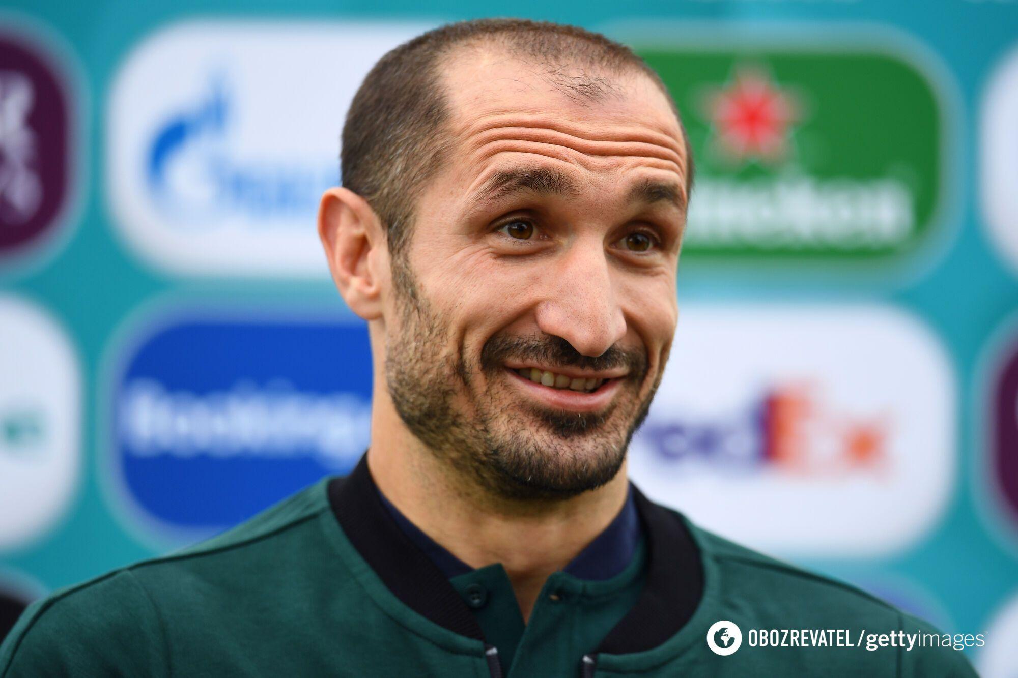 Капитан сборной Италии Джорджио Кьеллини