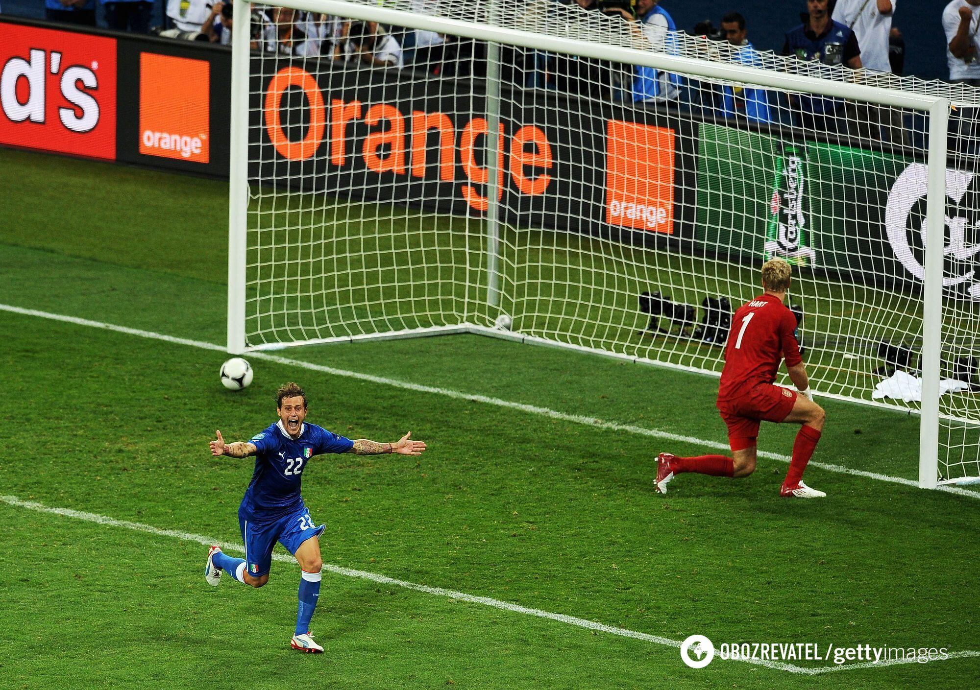 Италия и Англия встречались в четвертьфинале Евро-2012