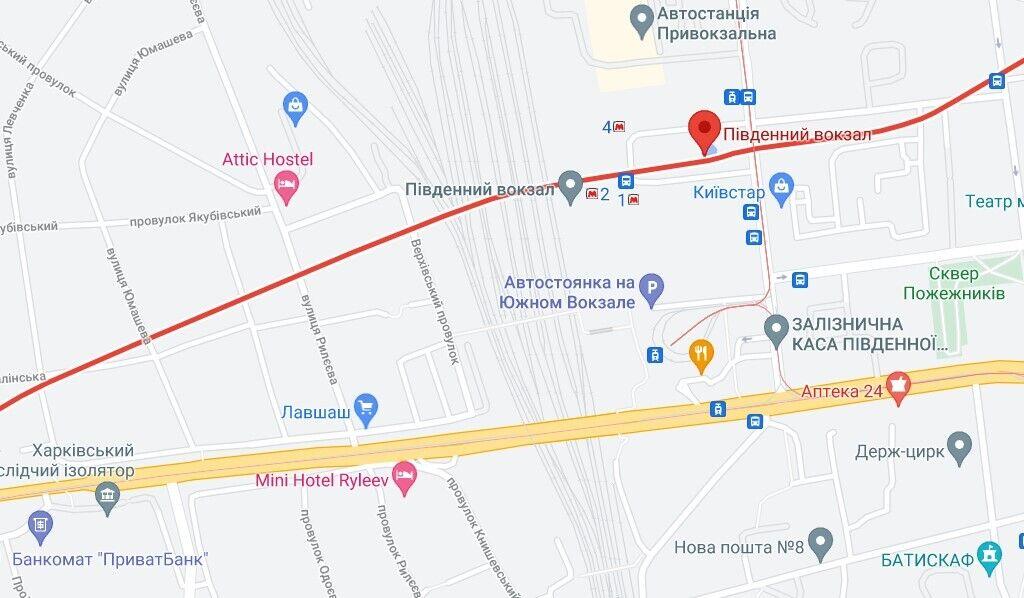 Інцидент трапився недалеко від Південного вокзалу в Харкові