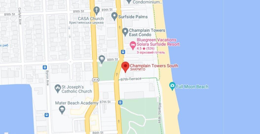 В Майами-Дейд обрушился жилой дом Champlain Towers South