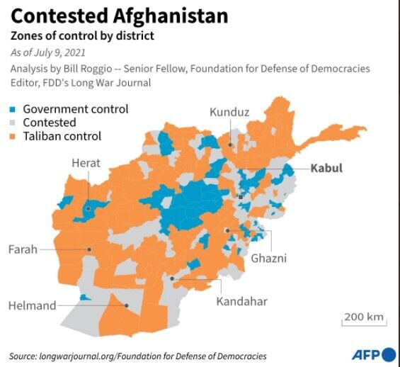 Талибан контролирует уже 85% Афганистана