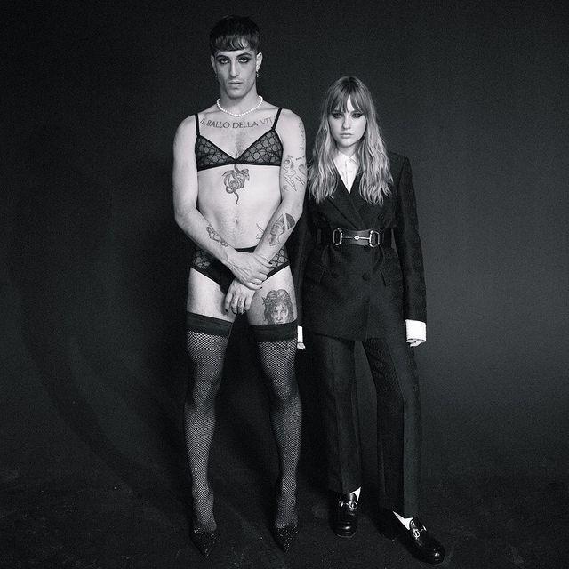 Давид Дамиано примерял женское нижнее белье в новой фотосессии