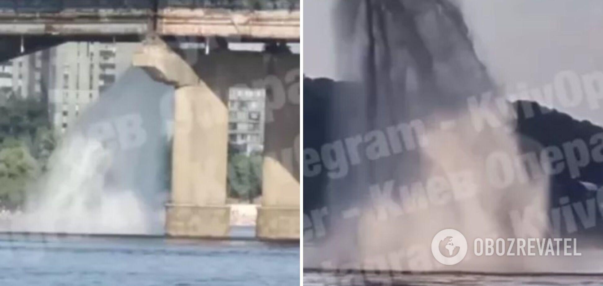 Прорив труби на мосту Патона 11 липня