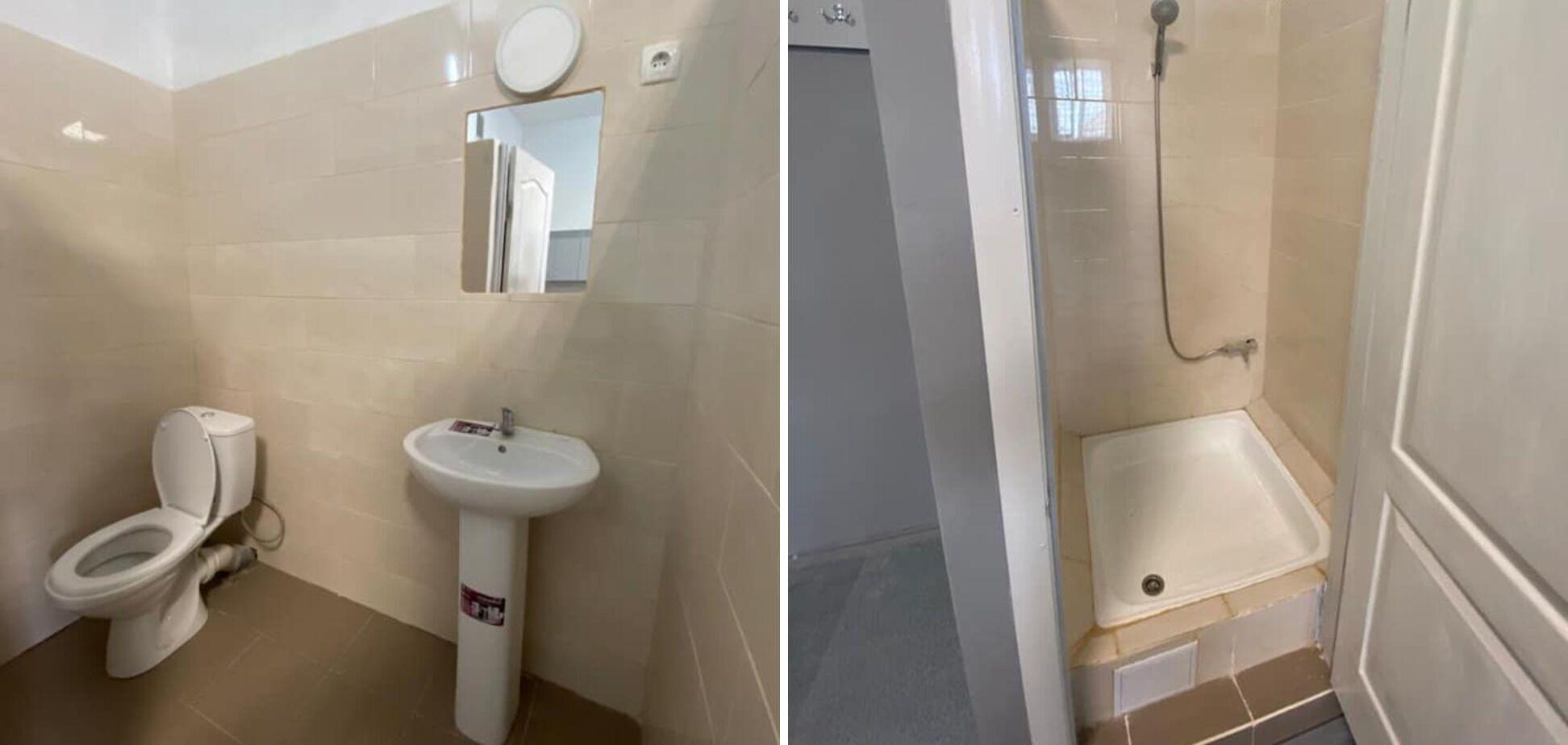 Туалет в камере СИЗО после ремонта