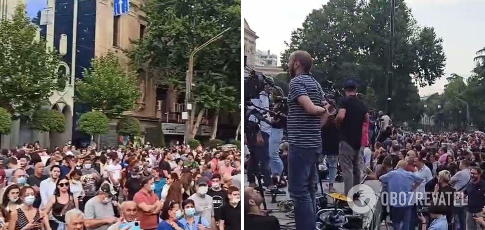 Участники митинга требовали отставки грузинского правительства