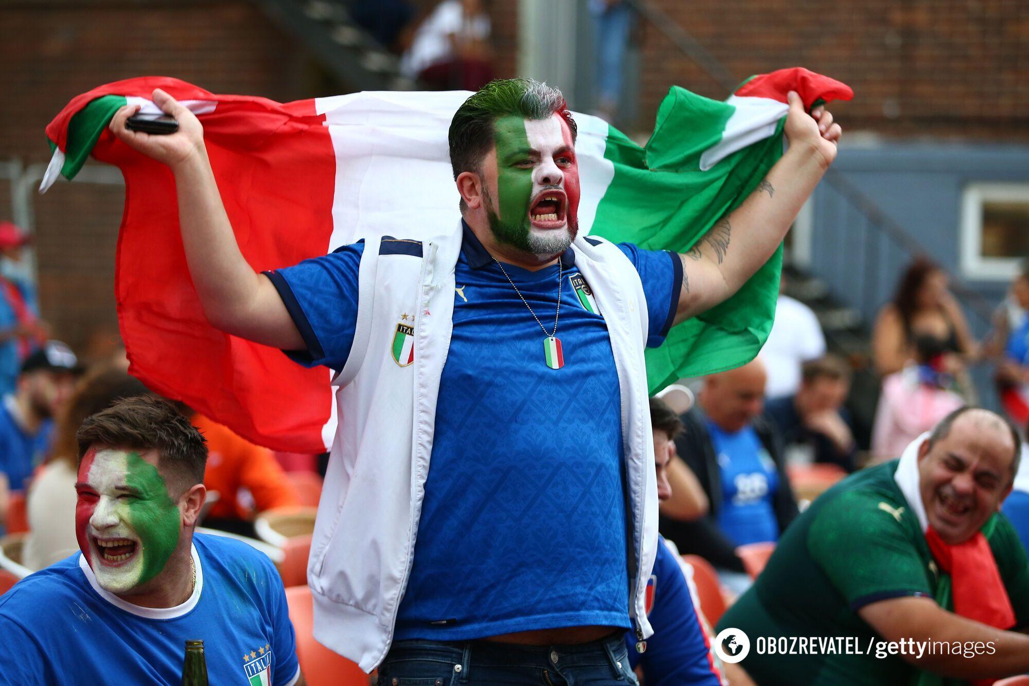 Итальянский фанат.