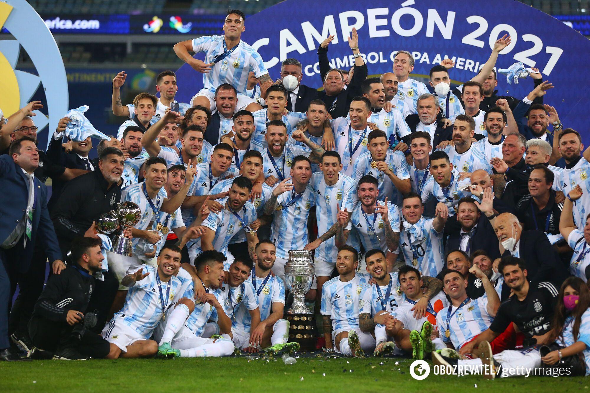 Аргентина обыграла Бразилию.