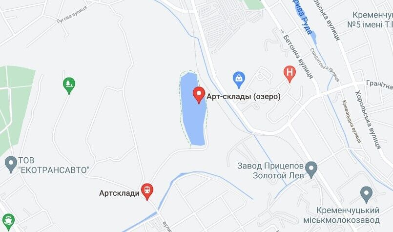 """Трагический случай произошел на озере бывших """"артскладов"""" в Кременчуге"""
