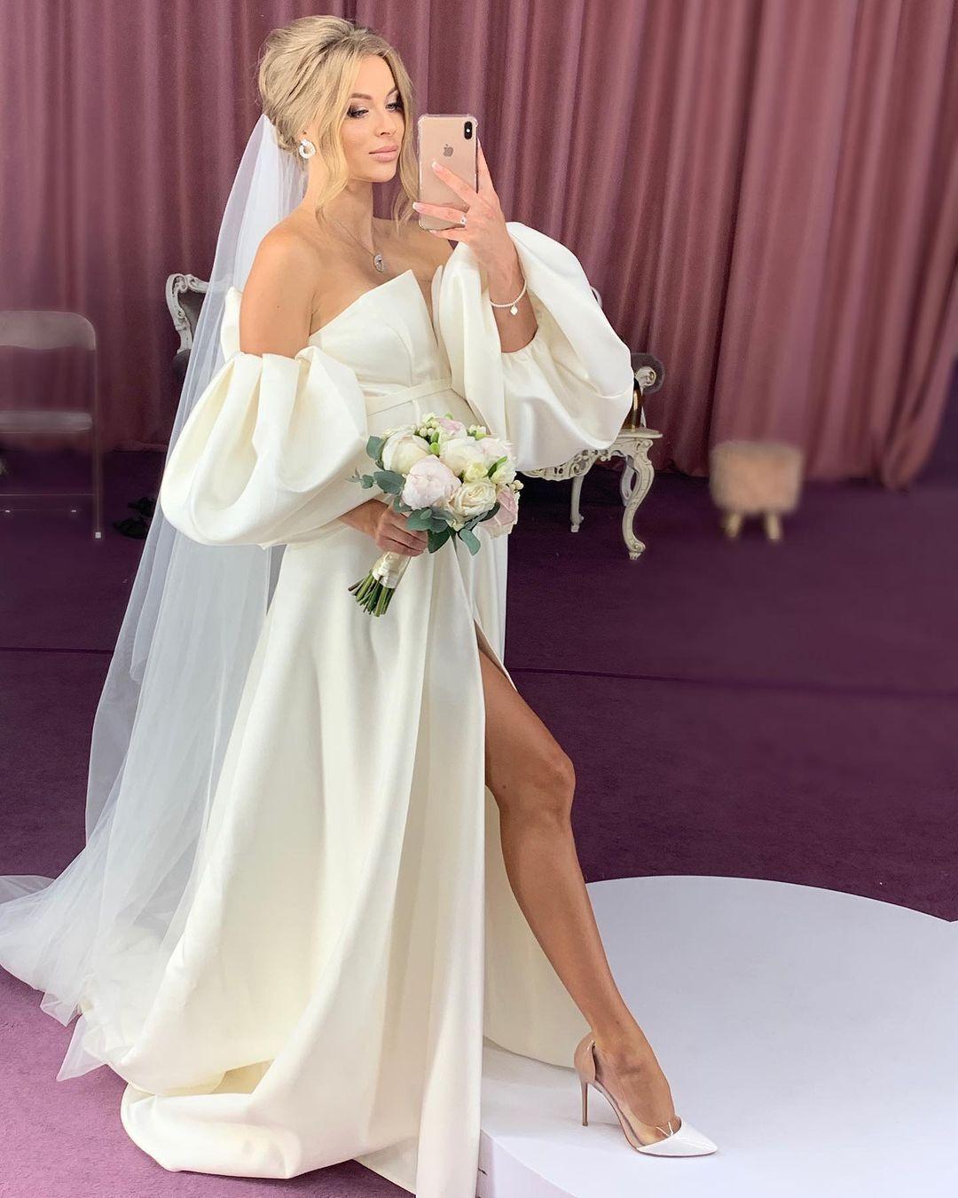 Юліанна Шабанова у весільній сукні