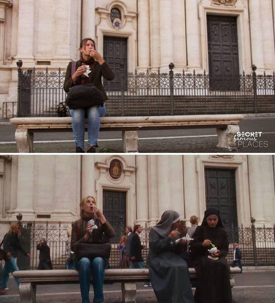 Жінка позує у Римі