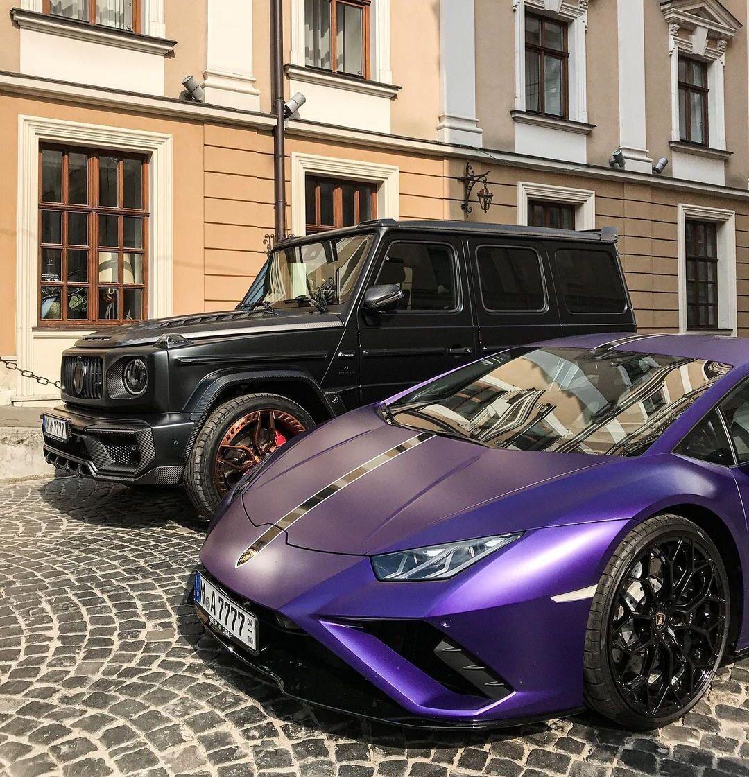 Mercedes-Benz G63 AMG и Lamborghini Huracan Evo RWD