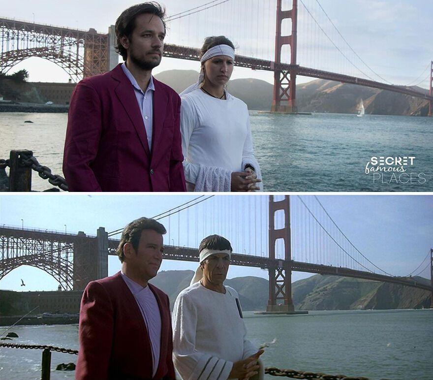 """Пара сфотграфувалася на місці, де знімали """"Зоряний шлях"""""""
