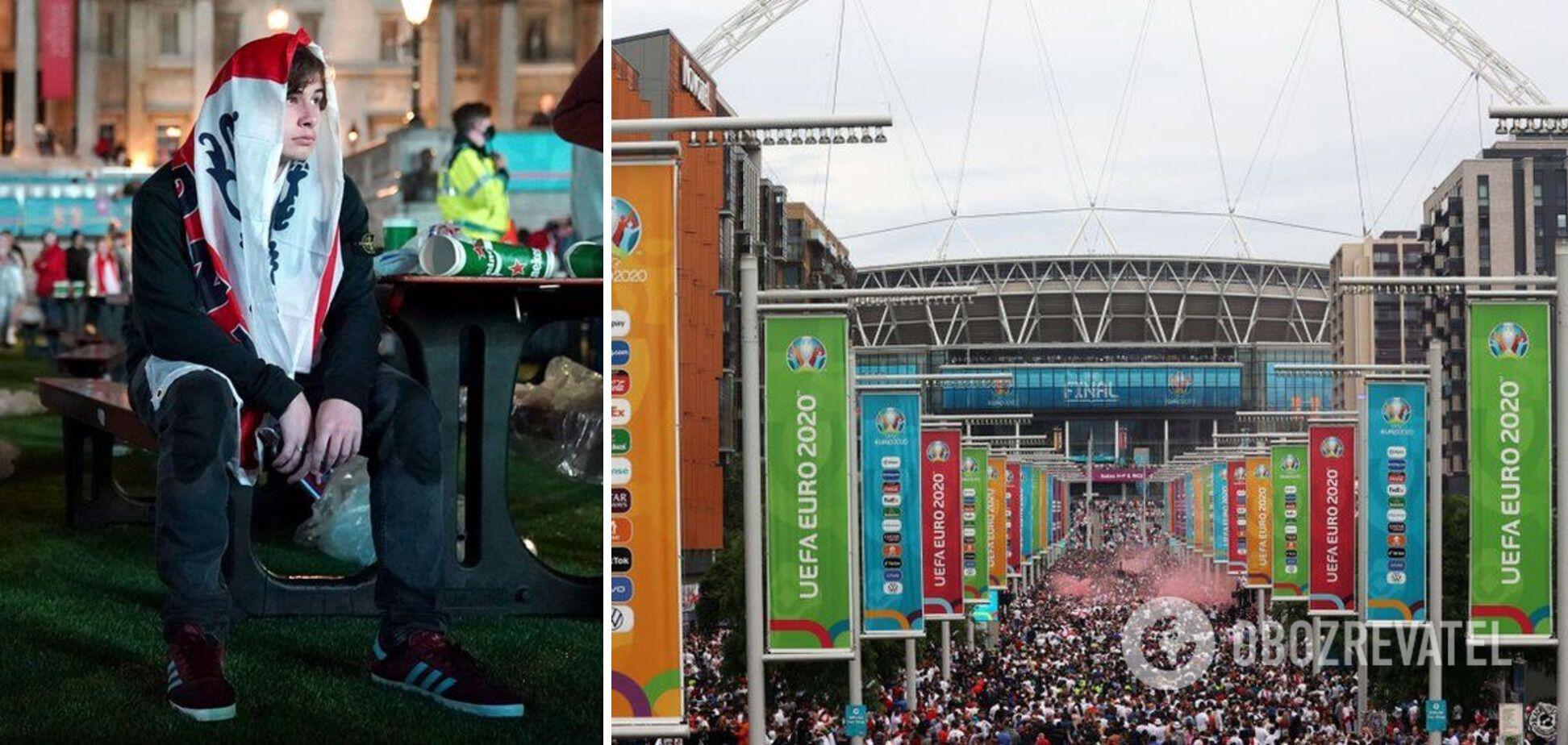 Поразка збірної Англії на Євро-2020 викликала заворушення в Лондоні