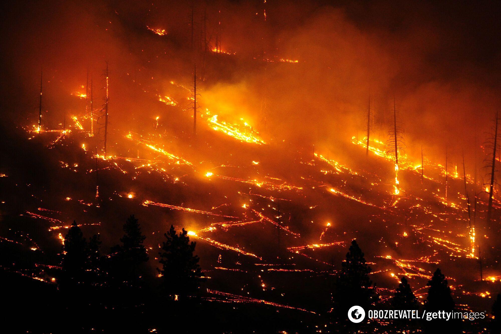 Пожар в Калифорнии, США