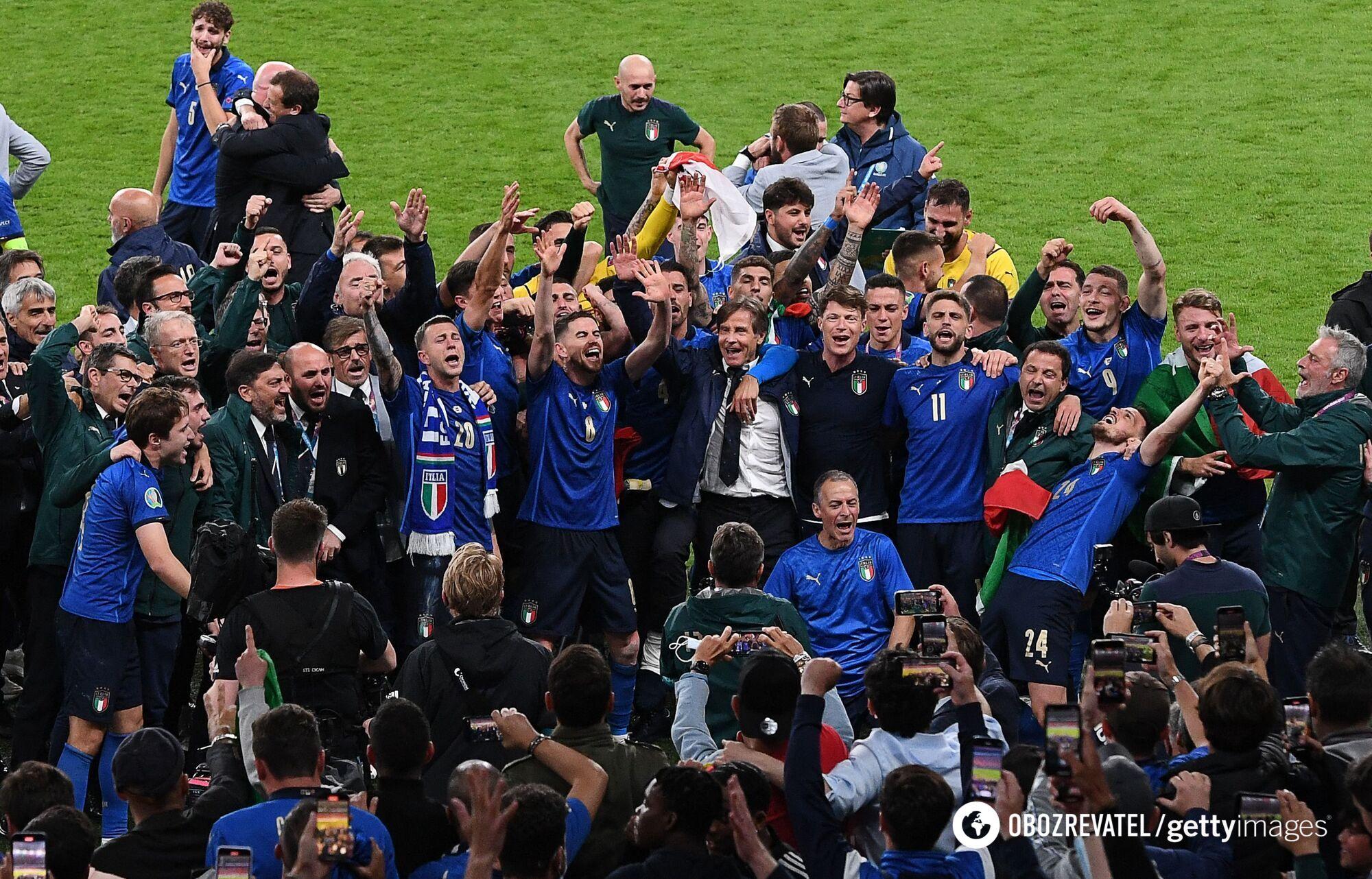 Італія святкує перемогу.