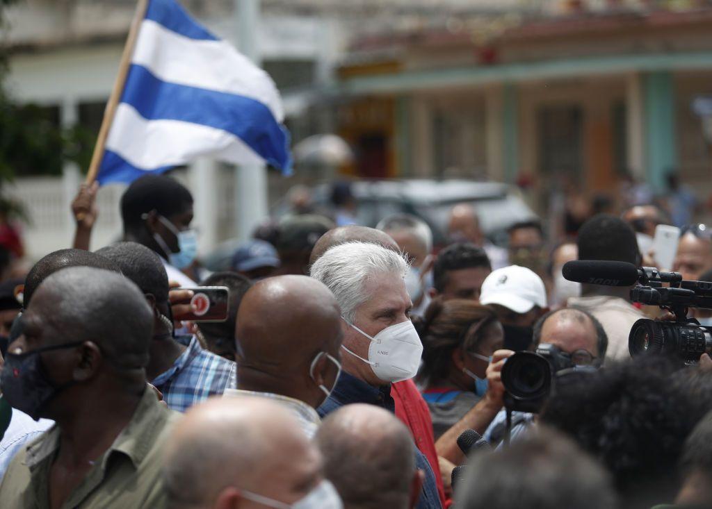 Кубинцы на улицах .