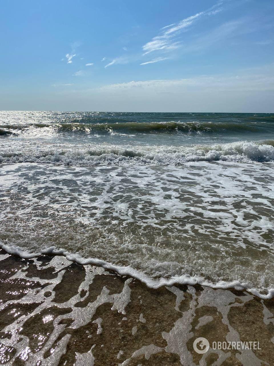 В Геническе мелкое море и песчаные пляжи