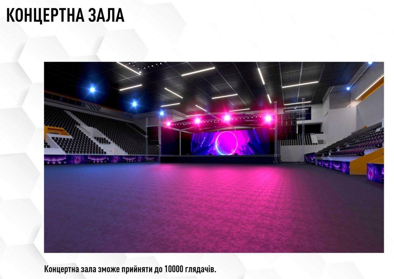 У головному залі також можна проводити концерти та святкові заходи